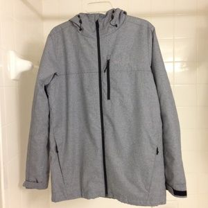 Columbia Grey Insulated Hooded Parka Small